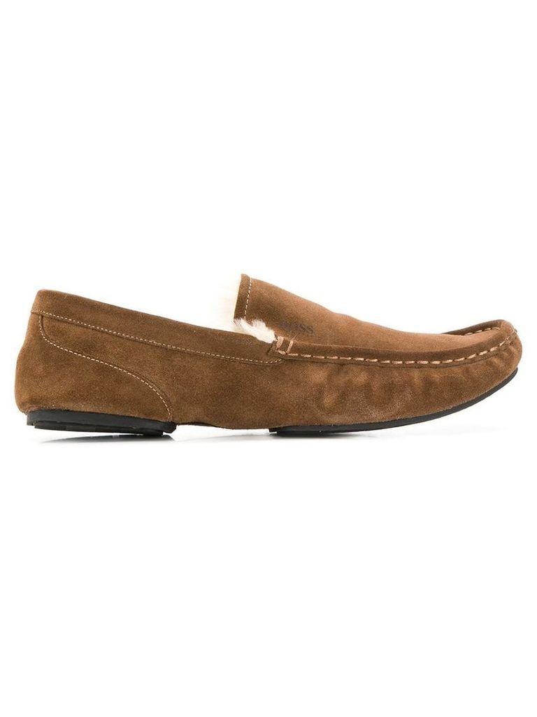 Boss Hugo Boss suede loafers - Brown