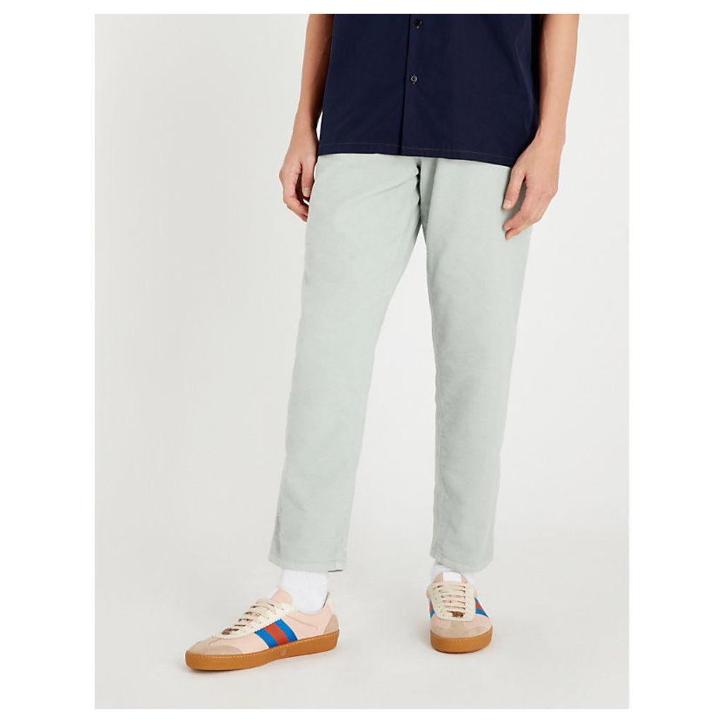 Regular-fit tapered moleskin jeans