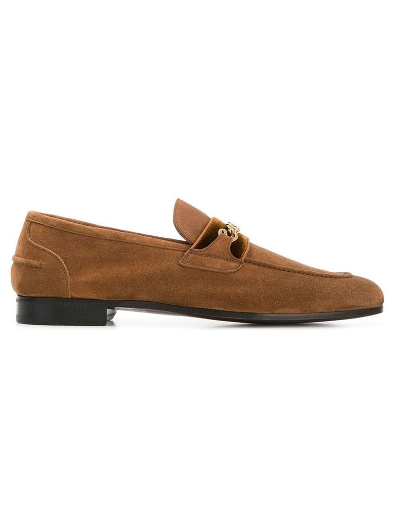 Tom Ford chain-link loafers - Brown