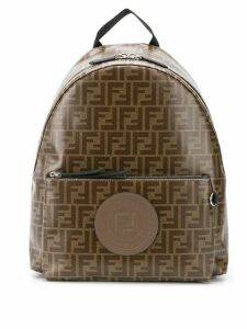 Fendi logo backpack - Brown