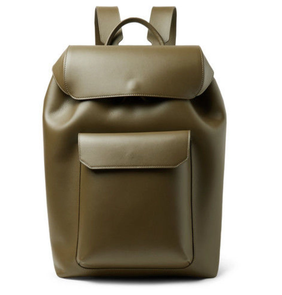 Mansur Gavriel - Leather Backpack - Army green