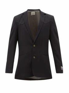 5 Moncler Craig Green - Doodle Logo Embossed Cotton Jacket - Mens - Blue