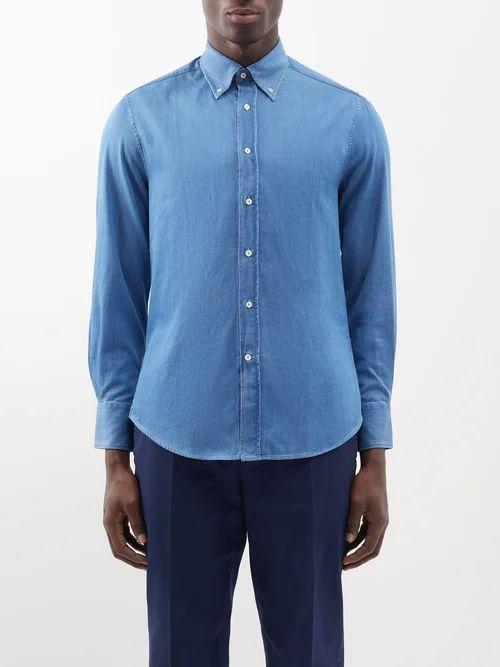 Saint Laurent - Faded Skinny Jeans - Mens - Dark Grey