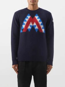 Maison Kitsuné - Logo Print Cotton Sweatshirt - Mens - Grey