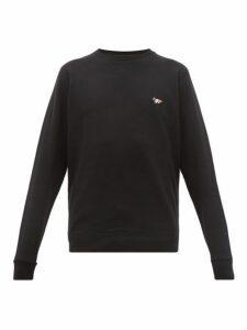 Maison Kitsuné - Tricolor Fox Appliqué Cotton Sweatshirt - Mens - Black