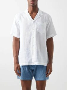 Moncler - Logo Appliqué Loop Back Cotton Sweatshirt - Mens - Grey