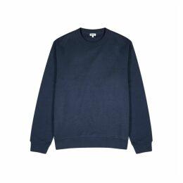 Kenzo Navy Logo Cotton-blend Sweatshirt