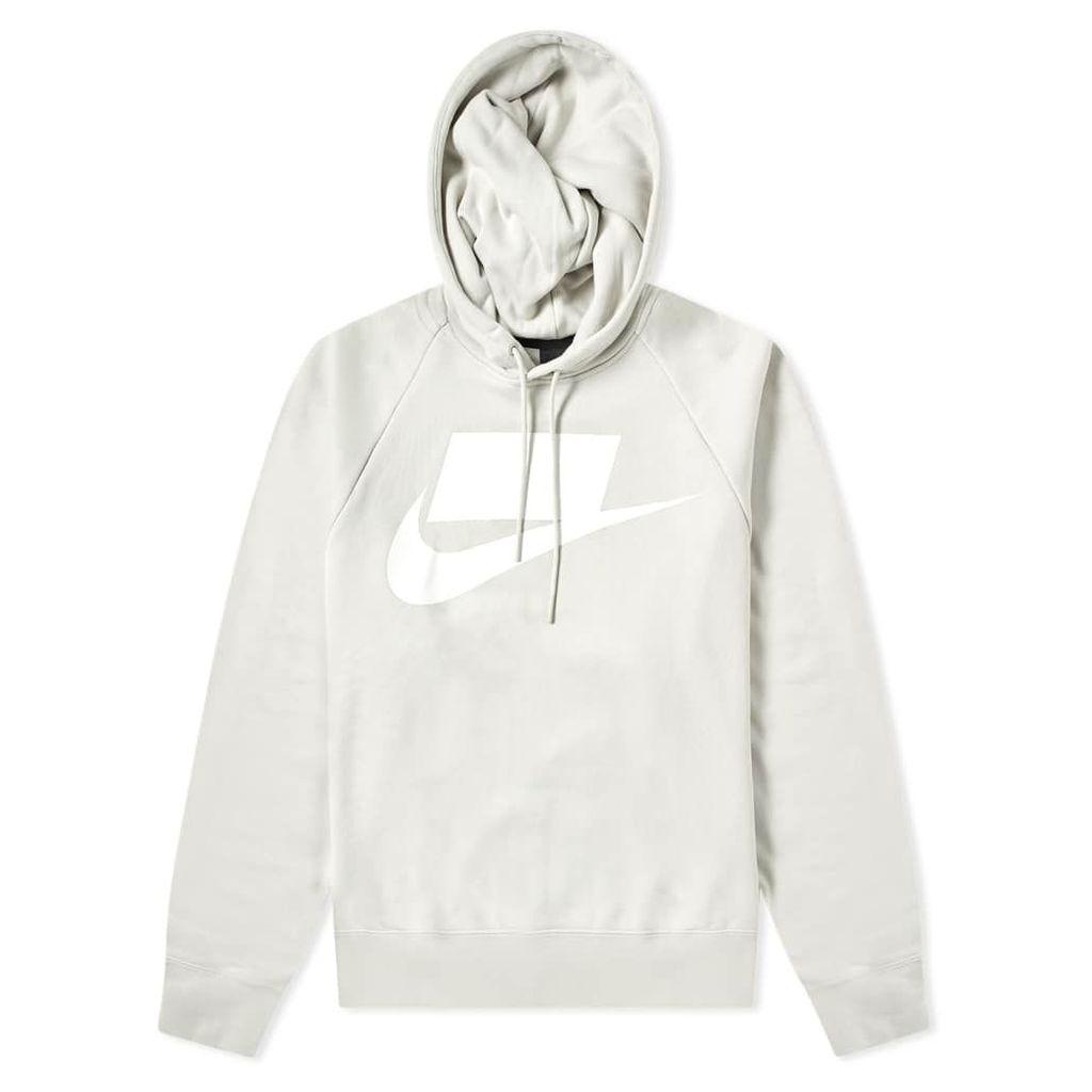Nike NSW Block Futura Popover Hoody Light Bone & White