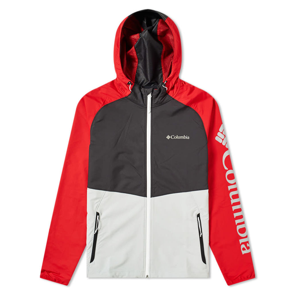 Columbia Panther Creek Soft Shell Jacket Grey, Black, Red & White