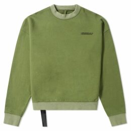 Unravel Project Motion Logo Crew Sweat Olive & Black
