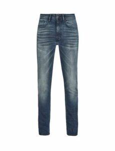 Mens Blue Vintage Wash Tyler Skinny Fit Jeans, Blue