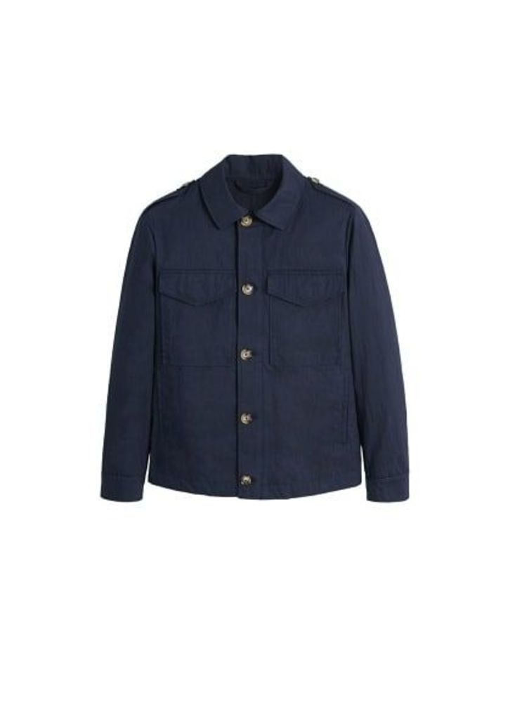 Pocketed cotton jacket