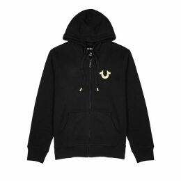 True Religion Black Hooded Cotton-blend Sweatshirt