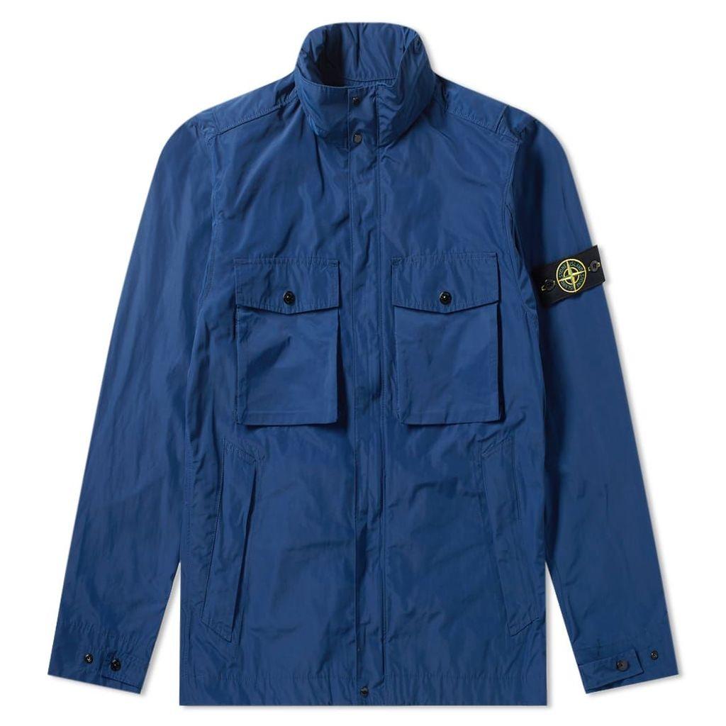 Stone Island Micro Reps Zip Pocket Jacket Blue