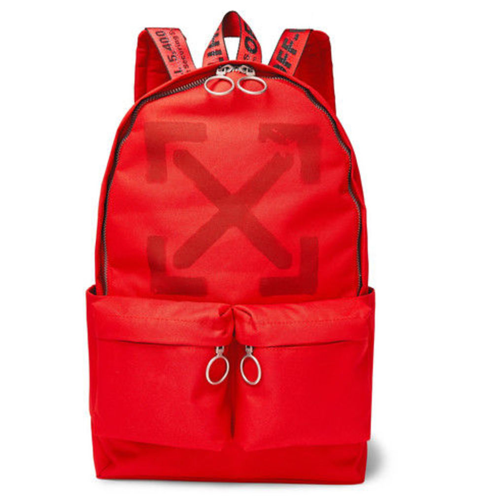 Off-White - Printed Canvas Backpack - Red