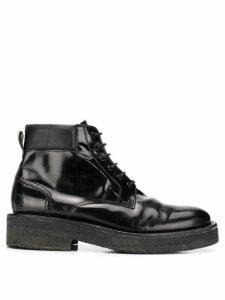 Ami Paris Laced Boots - Black