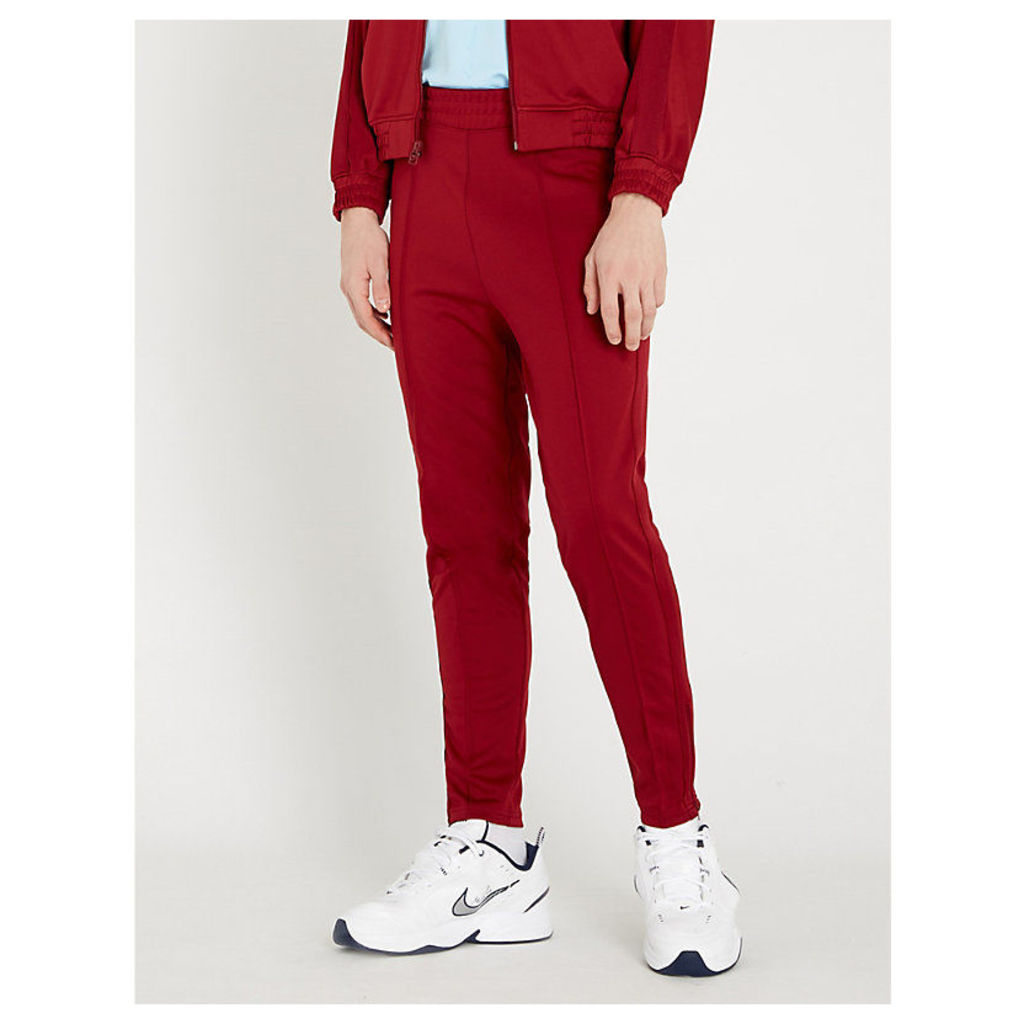 Logo-embroidered sports-jersey jogging bottoms