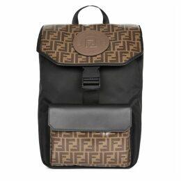 Fendi FF Monogrammed Nylon Backpack