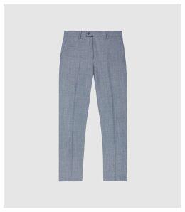 Reiss Worley - Wool Slim Fit Trousers in Light Blue, Mens, Size 38