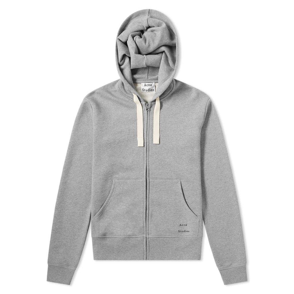 Acne Studios Frake Zip Hoody Light Grey Melange