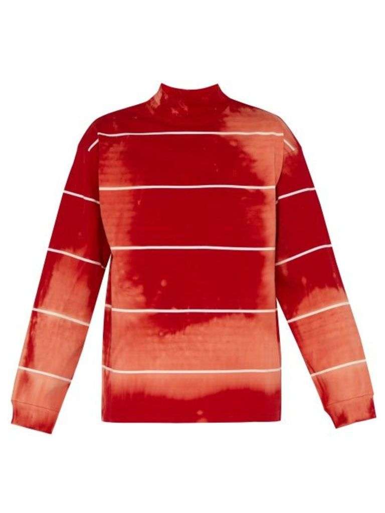 Balenciaga - Tie Dyed Cotton Jersey Sweater - Mens - Red White
