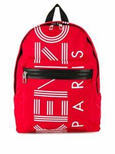 Kenzo logo print backpack - Red
