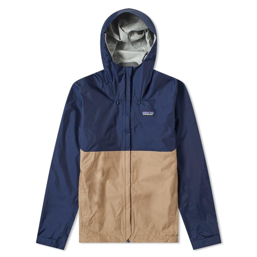 Patagonia Torrentshell Jacket Navy & Mojave Khaki