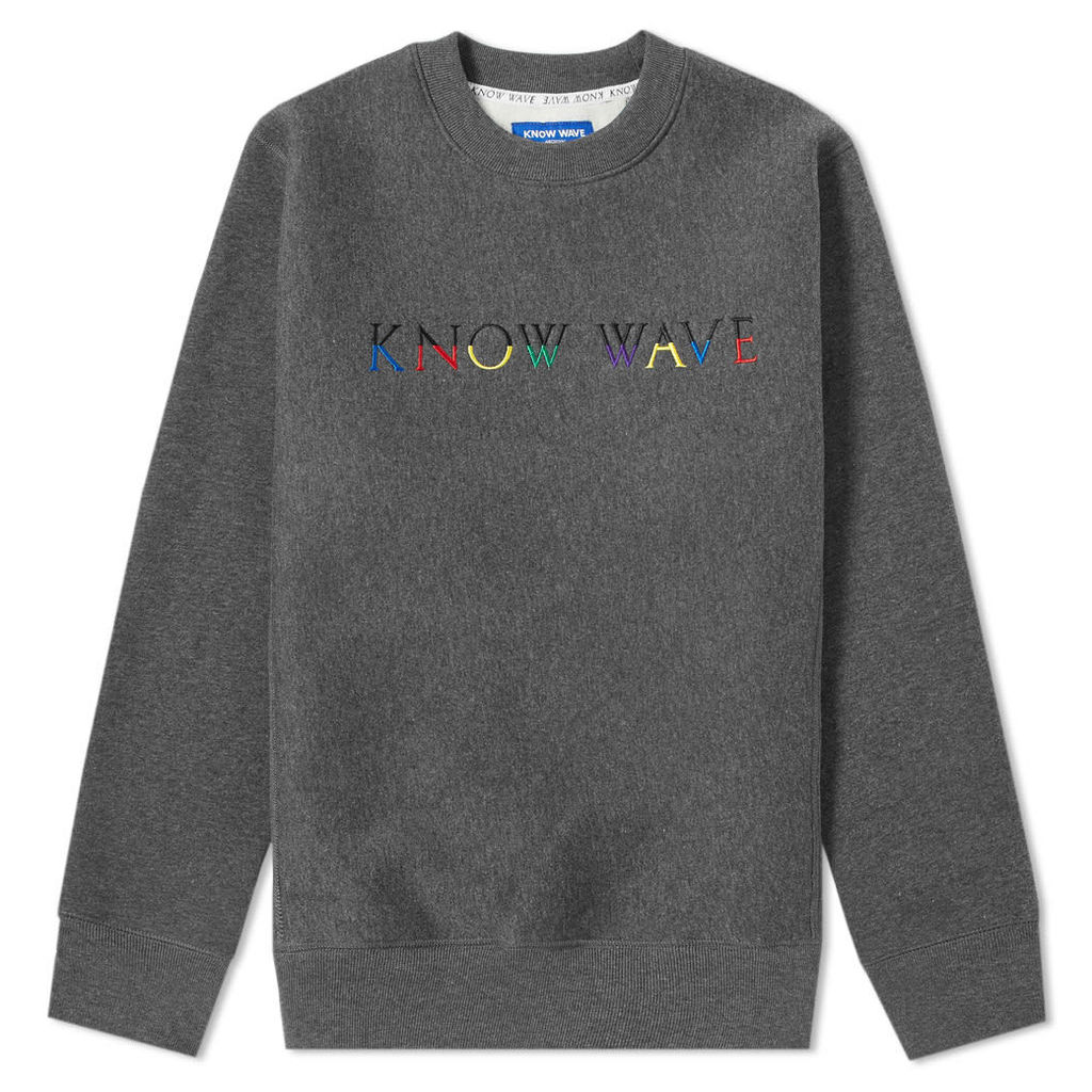 Know Wave Multi Logo Crew Sweat Charcoal