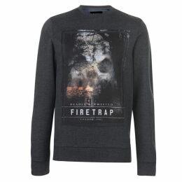 Firetrap Photo Crew Sweatshirt Mens