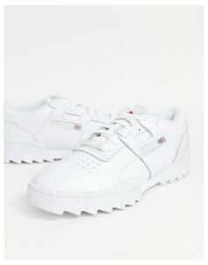 Reebok Workout Ripple Trainers in white DV5326