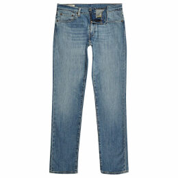 Mens River Island Levi's Blue 511 slim fit fade jeans