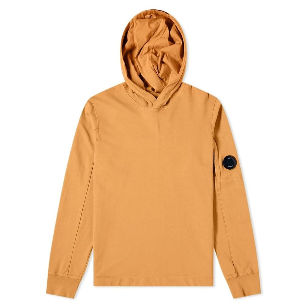 C.P. Company Light Fleece Arm Lens Popover Hoody Pumpkin