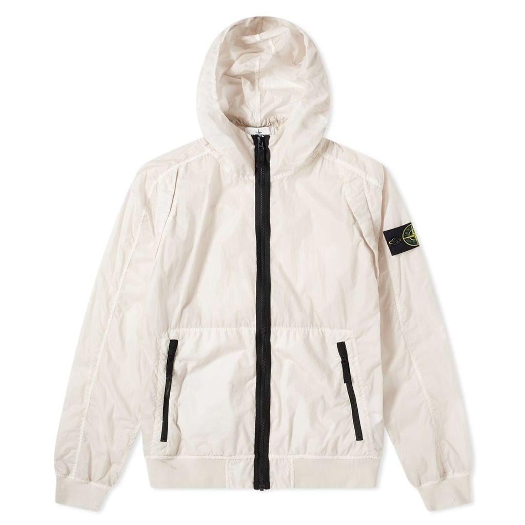 Stone Island Lamy Velour Two Tone Zip Jacket Off White