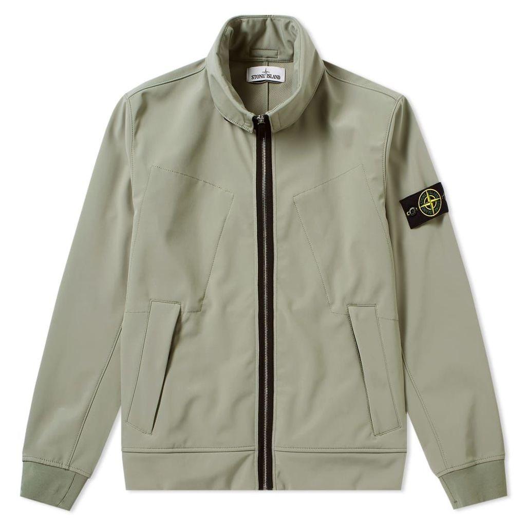 Stone Island Soft Shell R Concealed Hood Jacket Olive