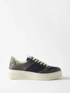 Valentino - Camouflage Print Contrast Stripe Track Pants - Mens - Green Multi