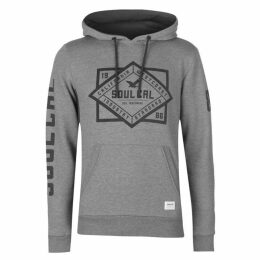 SoulCal Printed Chest Hoodie Mens