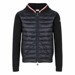 Moncler Navy Panelled Shell And Cotton Jacket