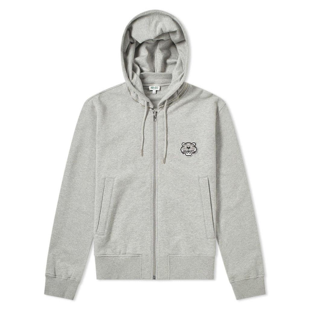 Kenzo Tiger Zip Hoody Grey