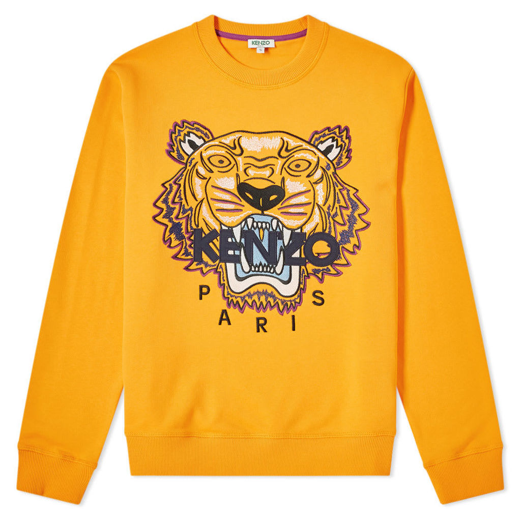 Kenzo Embroidered Tiger Crew Sweat Medium Orange