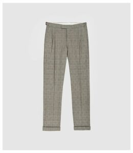 Reiss Jury - Check Trousers in Grey, Mens, Size 38