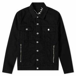 Balmain Signature Back Logo Denim Jacket Black