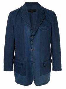Comme Des Garçons Pre-Owned tonal notched jacket - Blue