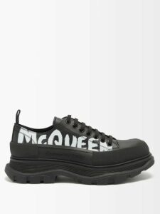 Balenciaga - Logo Print Track Pants - Mens - Black