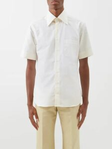 Maison Kitsuné - Fox Embroidered Cotton Jersey Hooded Sweatshirt - Mens - Grey