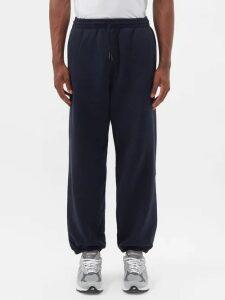 Deveaux - Oversized Cotton Crew Neck Sweatshirt - Mens - Burgundy