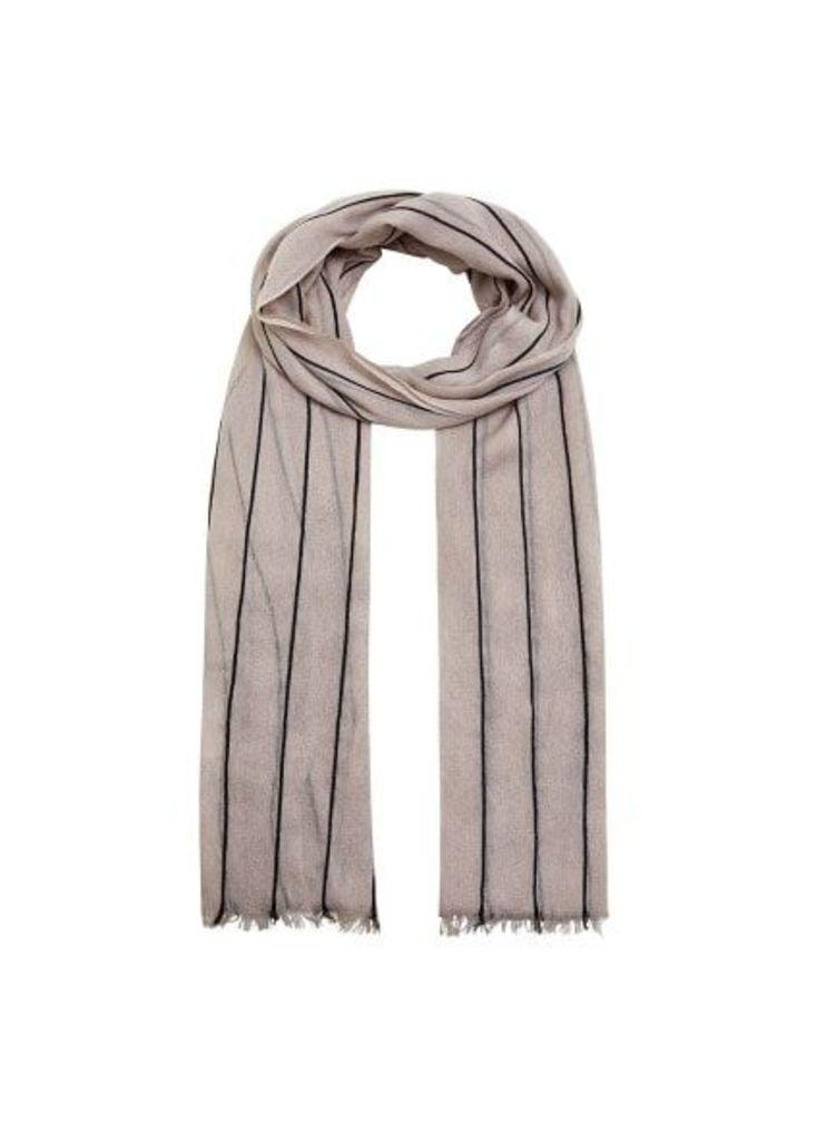 Striped monochrome scarf