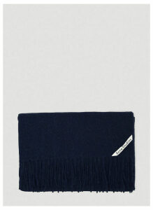Acne Studios Unisex Canada Wool Scarf in Navy size One Size