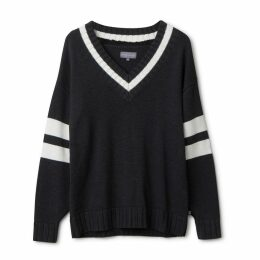 Urban Collective - Oversized Varsity Sweater By Raul Magdaleno Grey