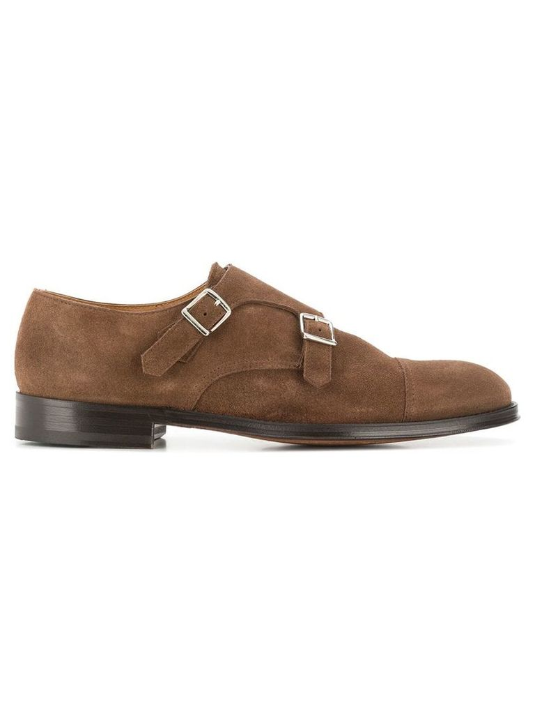 Doucal's suede monk shoes - Brown