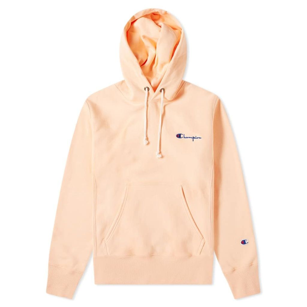 Champion Reverse Weave Small Script Logo Hoody Peach